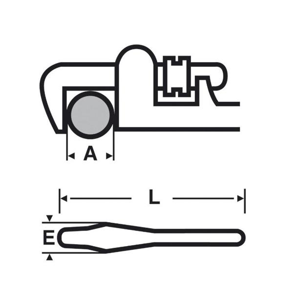 """Klucz Viragrip 8"""" o dużej wydajności VIRAX 013808"""