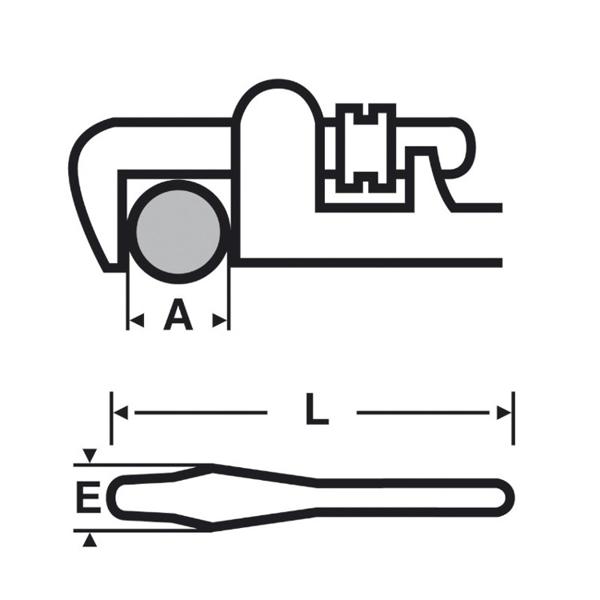 Klucz typu Stillson VIRAX [RÓŻNE MODELE DO WYBORU]