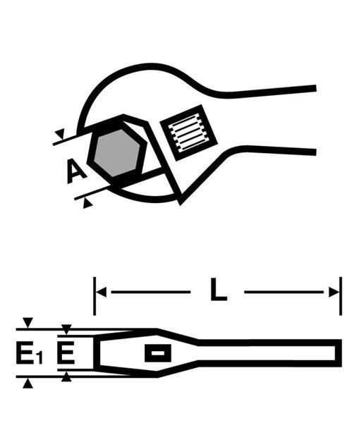 """Odwracalny klucz szczękowy VIRAX 8"""" 017031"""