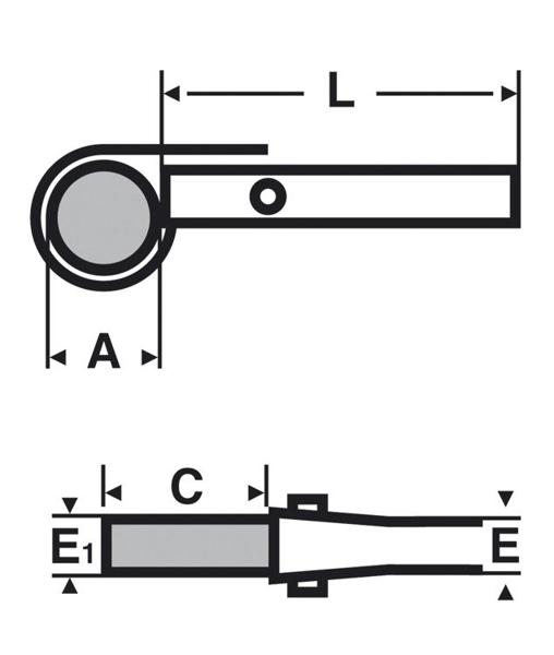 "VIRAX KLUCZ ŁAŃCUCHOWY DWUSTRONNY  1.1/2 - 8"""