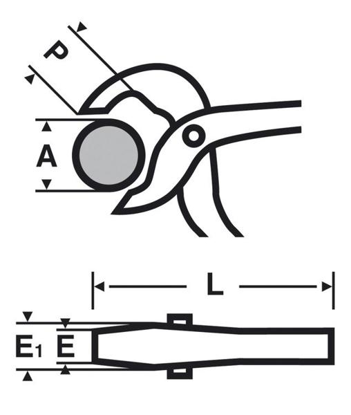 VIRAX SZCZYPCE NASTAWNE IZOLOWANE 100 mm