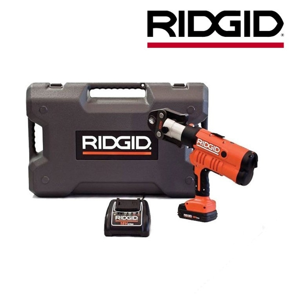 Zaciskarka RP 340-B z futerałem, akumulatorem, ładowarką i szczękami V 18-22-28 mm RIDGID
